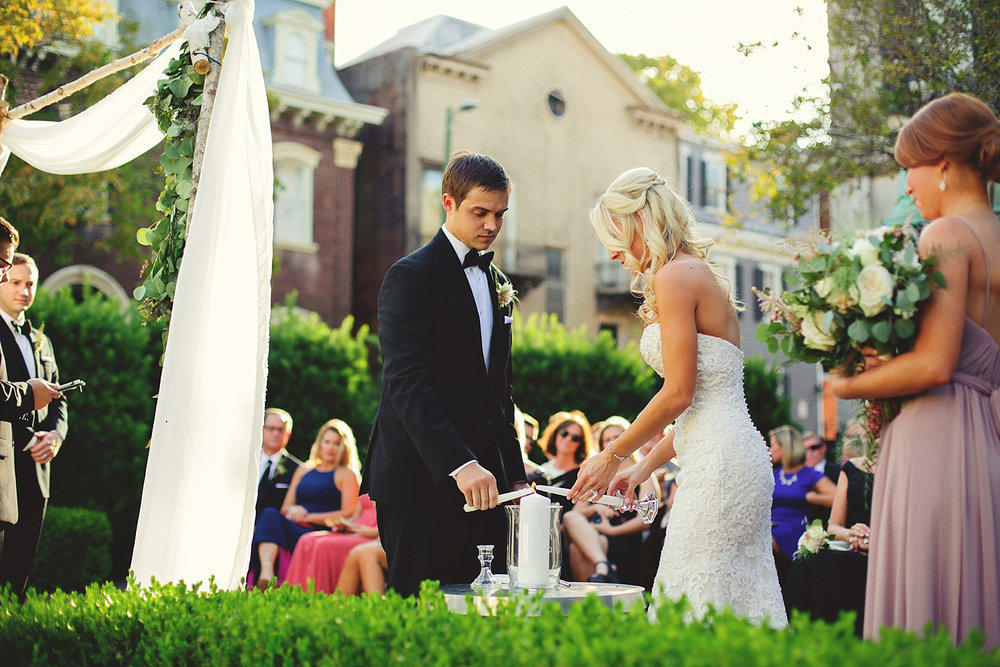 Harper Fowlkes House Wedding: unity candle lighting
