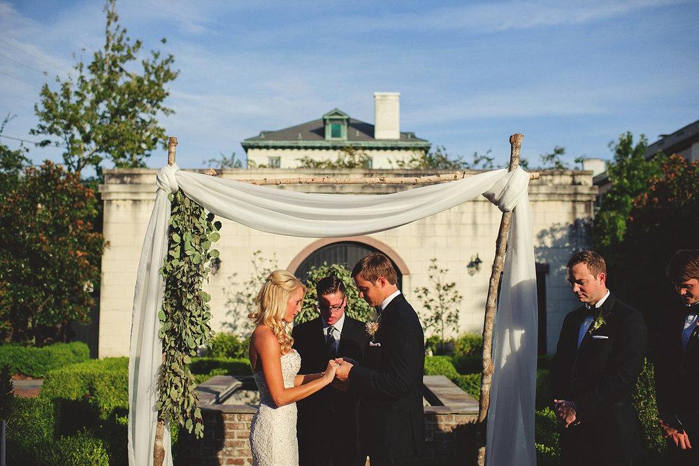 Harper Fowlkes House Wedding: ceremony prayer