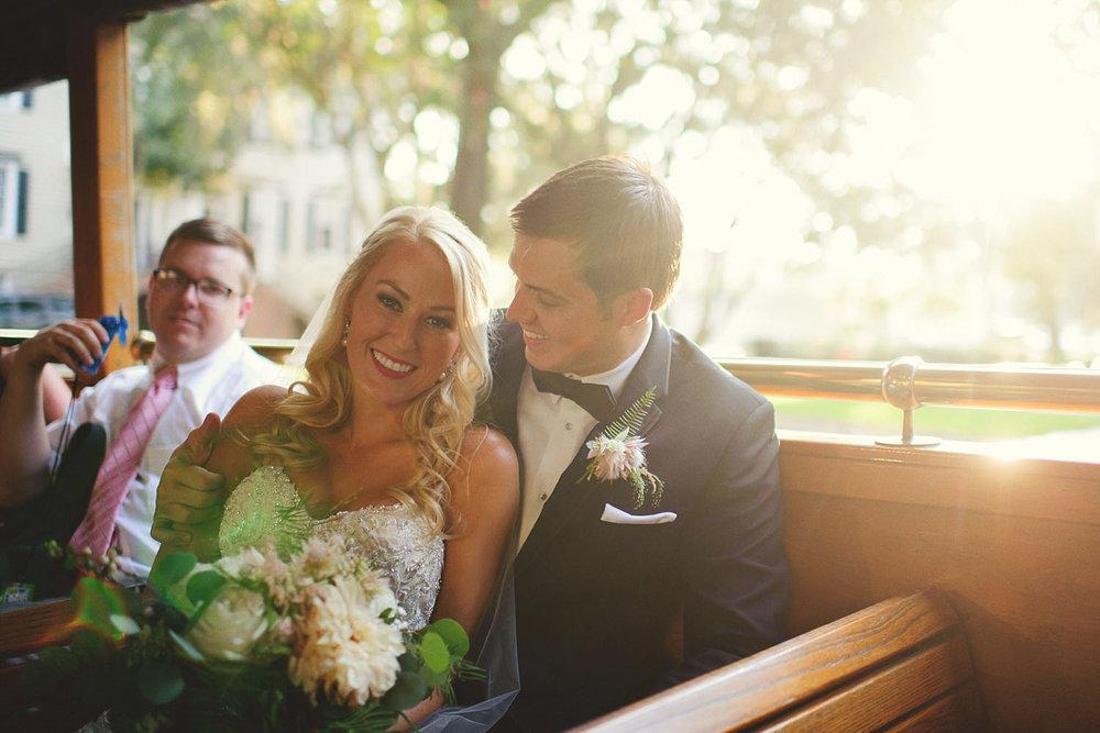 Harper Fowlkes House Wedding: trolley pics