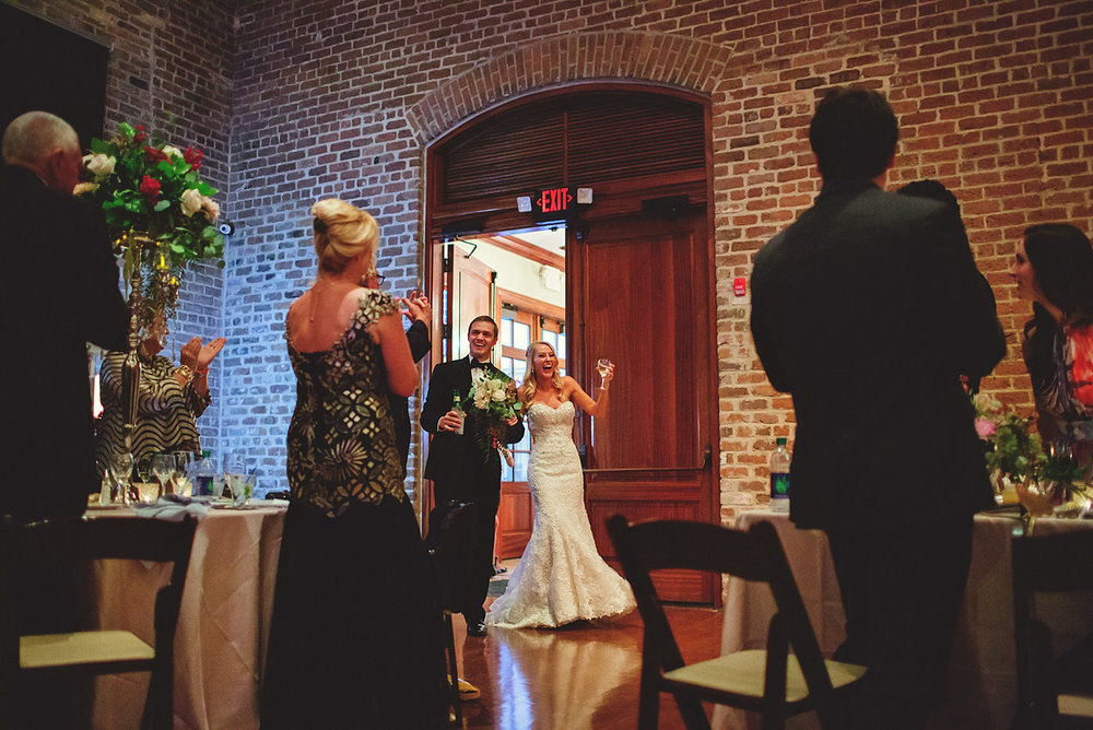 Chalres Morris Center Wedding: bride and groom entrance