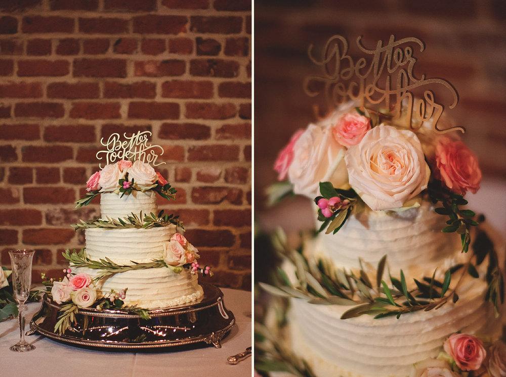 Chalres Morris Center Wedding: Cake Mollie Stone