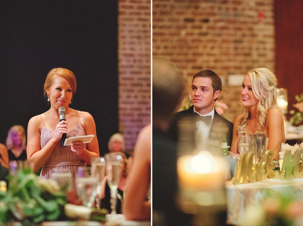 Chalres Morris Center Wedding: maid of honor speech