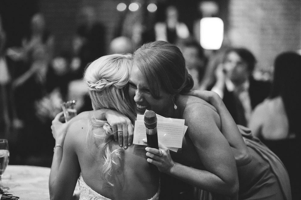 Chalres Morris Center Wedding: hugging