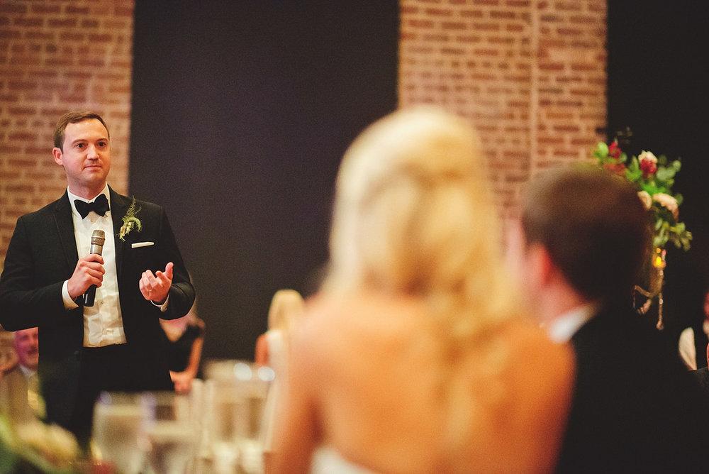 Chalres Morris Center Wedding: best man speech