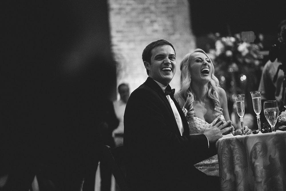 Chalres Morris Center Wedding: laughing