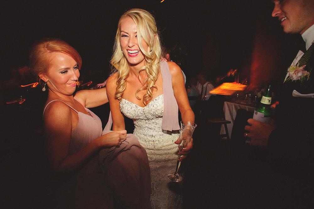 Chalres Morris Center Wedding: fun dancing