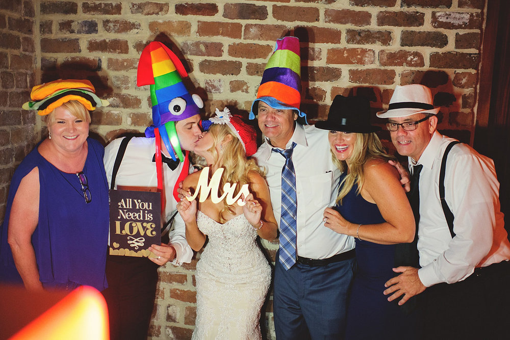 Chalres Morris Center Wedding: photo booth