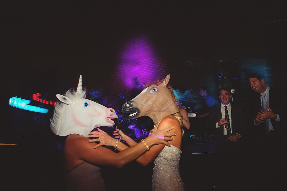 Chalres Morris Center Wedding: horse heads