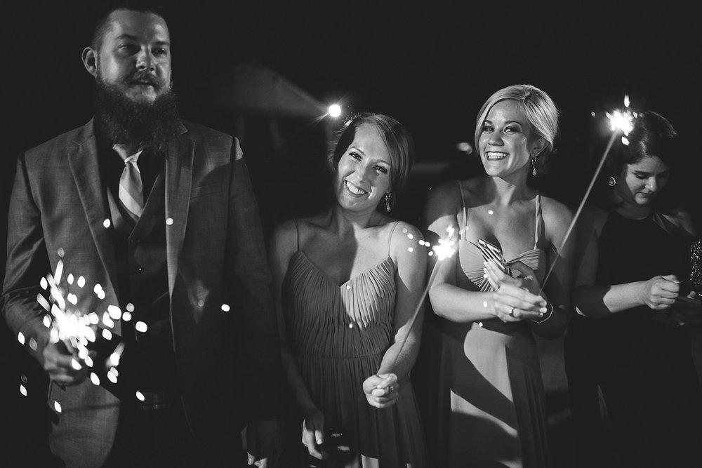 Chalres Morris Center Wedding: sparkler send off