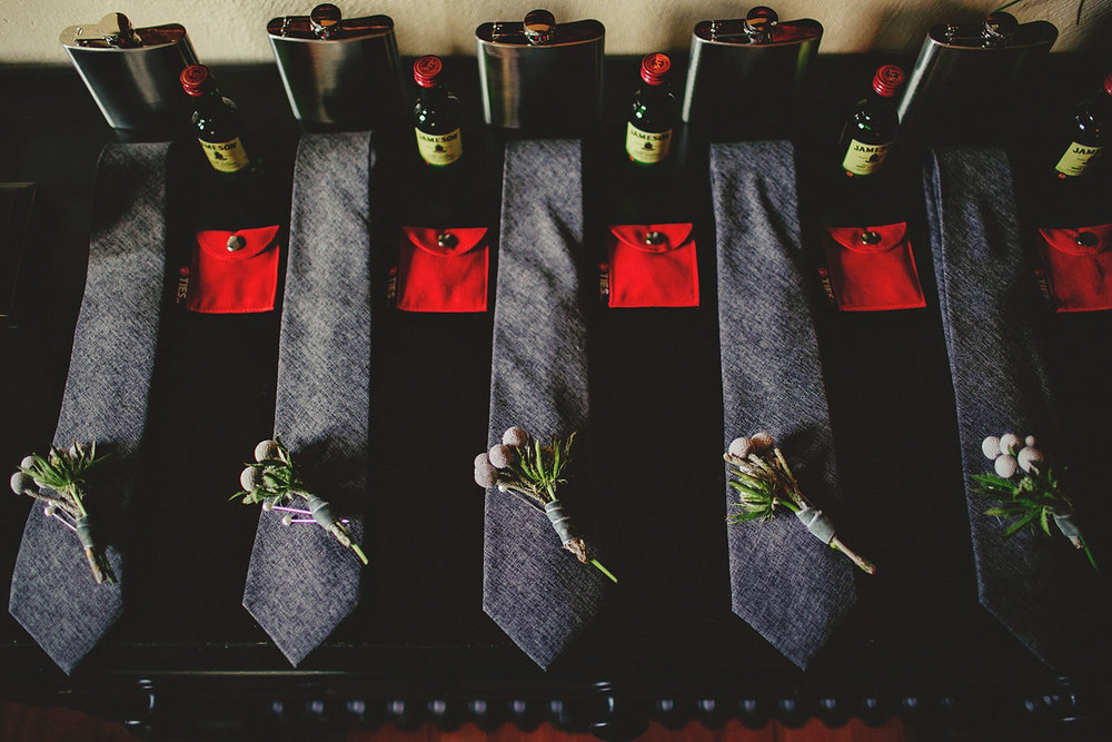 casa feliz wedding photos: groomsmen ties
