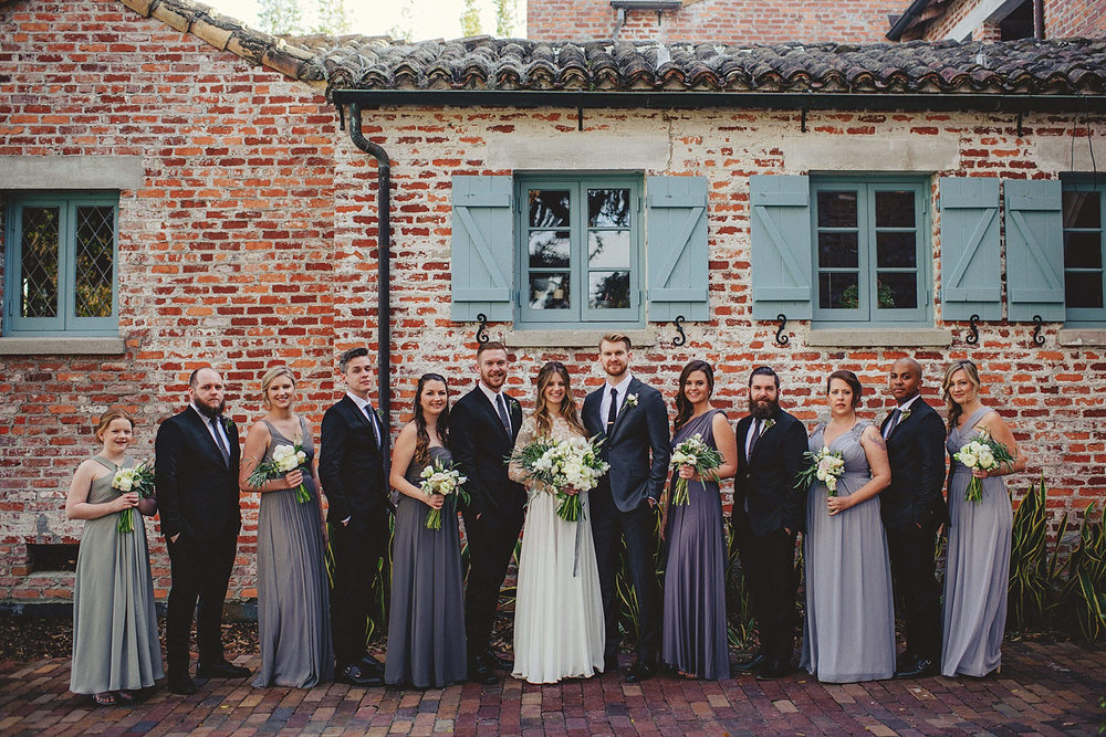 casa feliz wedding photos: bridal party