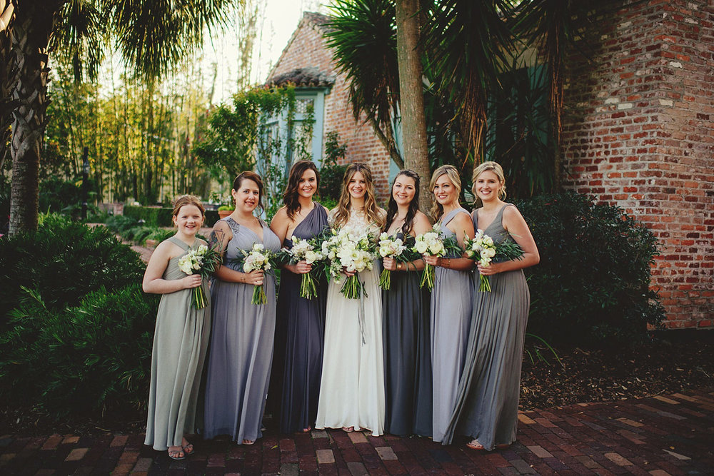 casa feliz wedding photos: bridesmaids