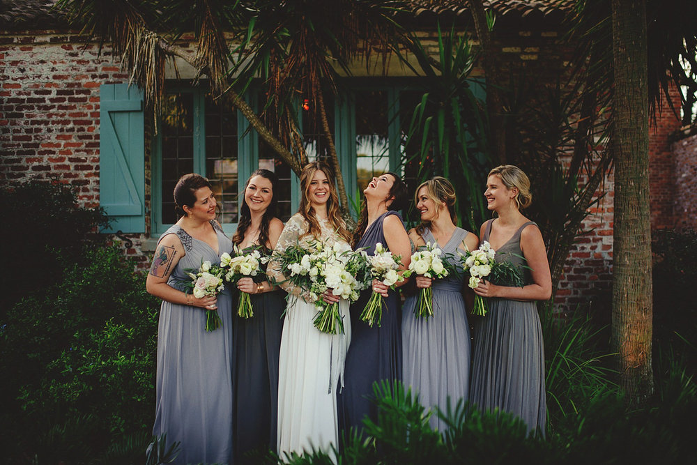 casa feliz wedding photos: bride and bridesmaids