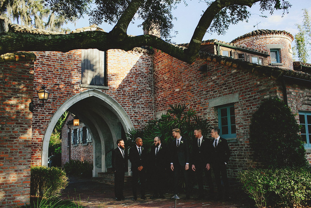 casa feliz wedding photos: groomsmen
