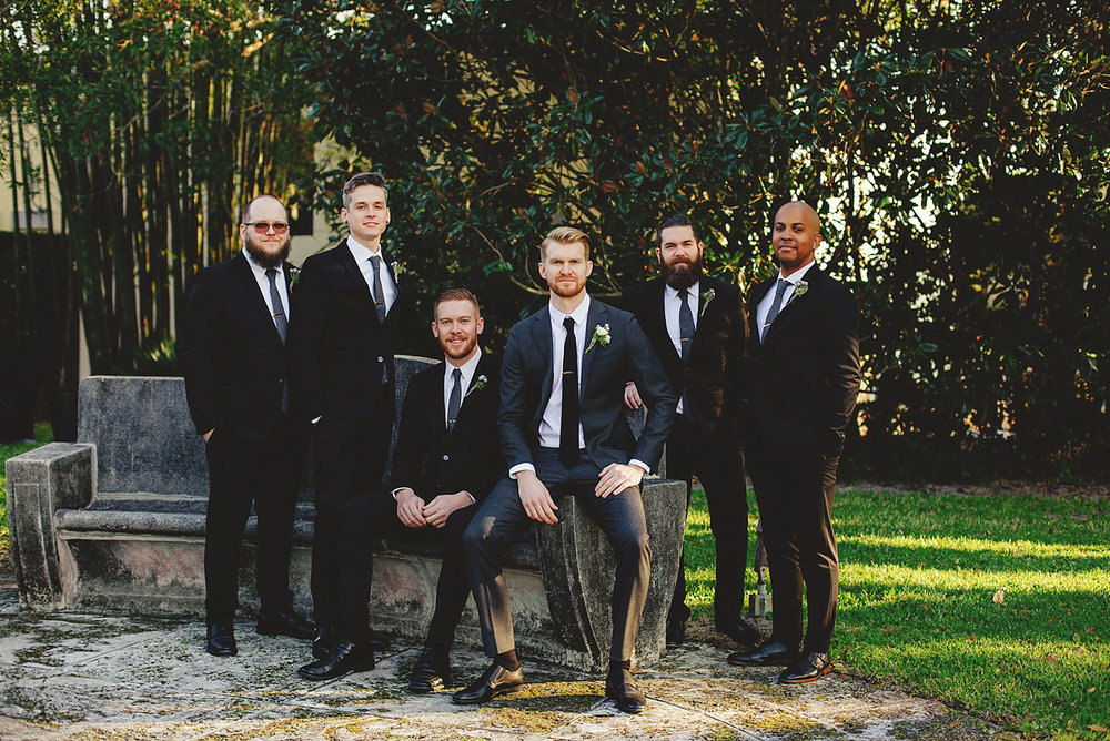 casa feliz wedding photos: groom and groomsmen