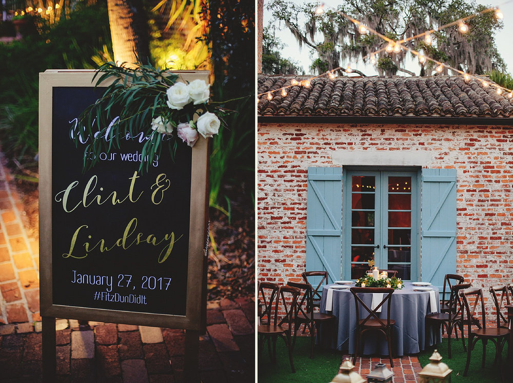 casa feliz wedding photos: reception signage