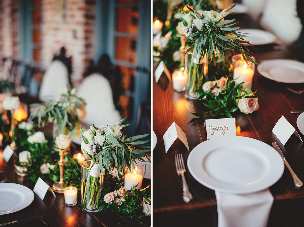 casa feliz wedding photos: plates and florals