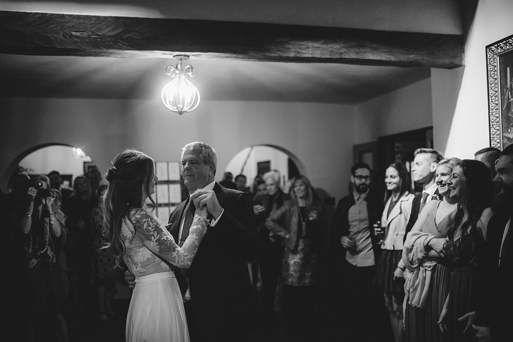 casa feliz wedding photos: father daughter dance