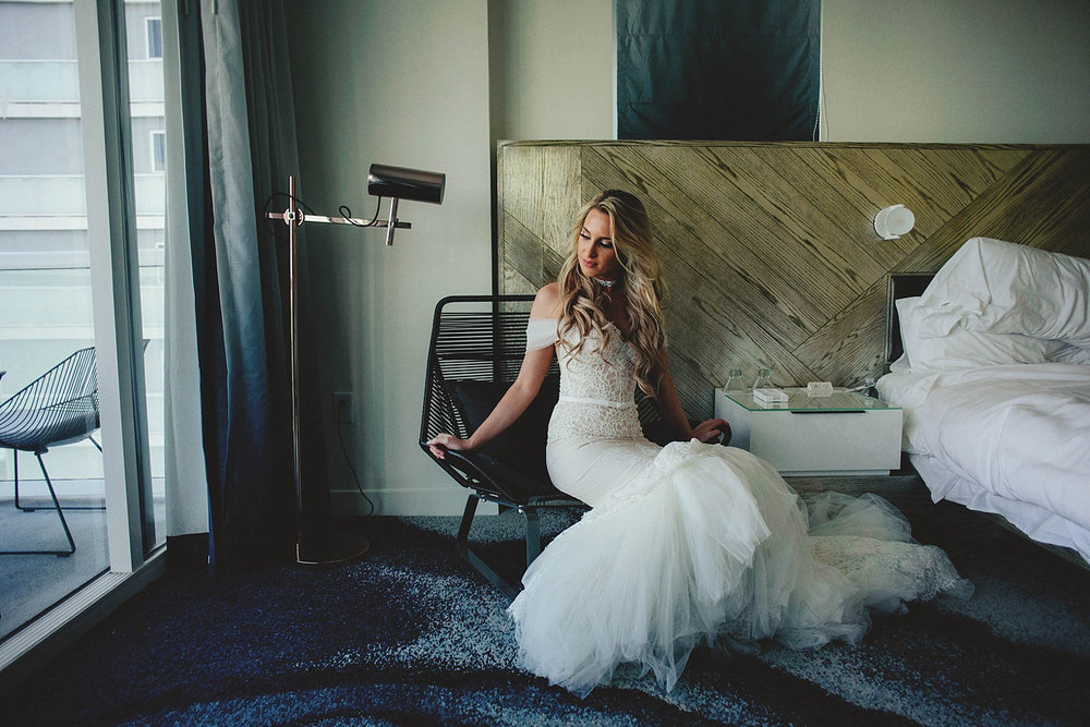 bride in inbal dror VIP dress