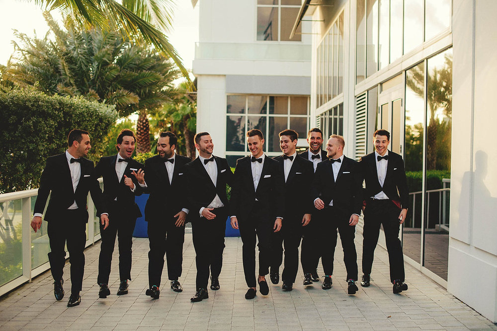 romantic-w-fort-lauderdale-wedding: groomsmen walking