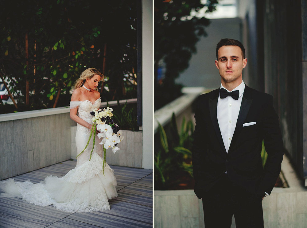 romantic-w-fort-lauderdale-wedding: portraits of bride and groom