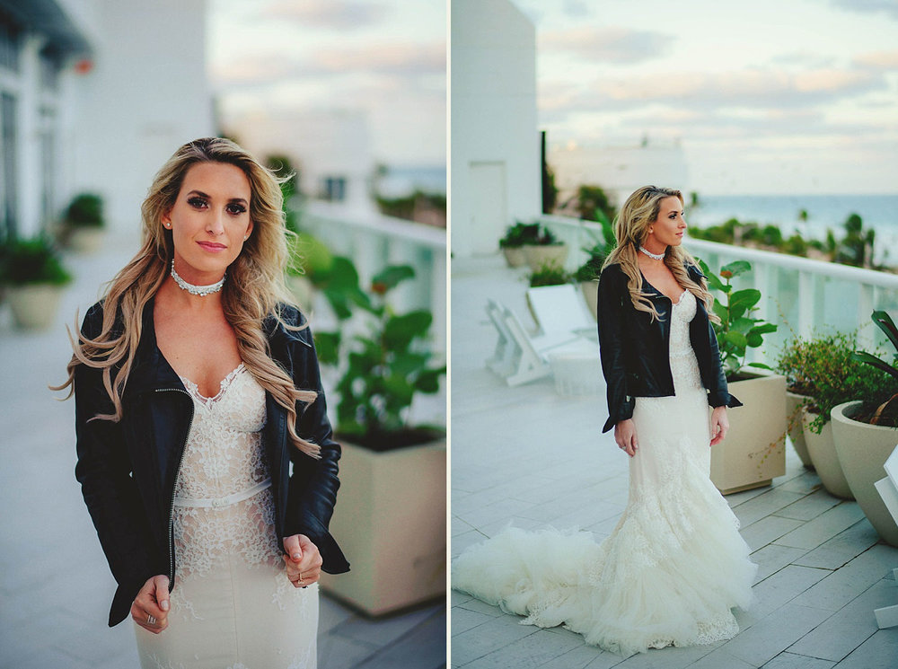 rad bride in leather jacket inbal dror