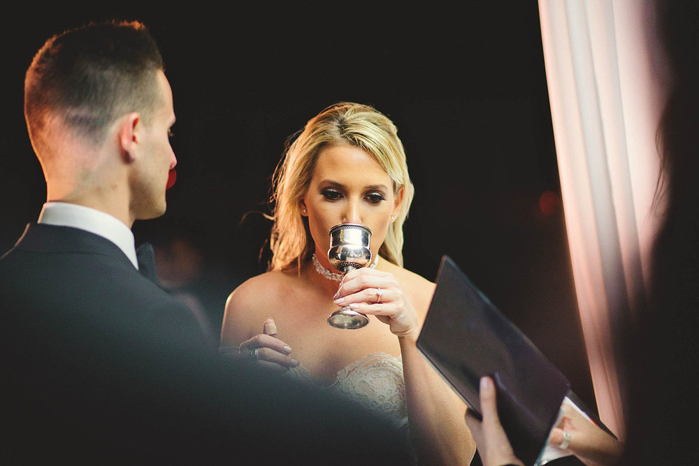 romantic-w-fort-lauderdale-wedding: bride sipping from wine
