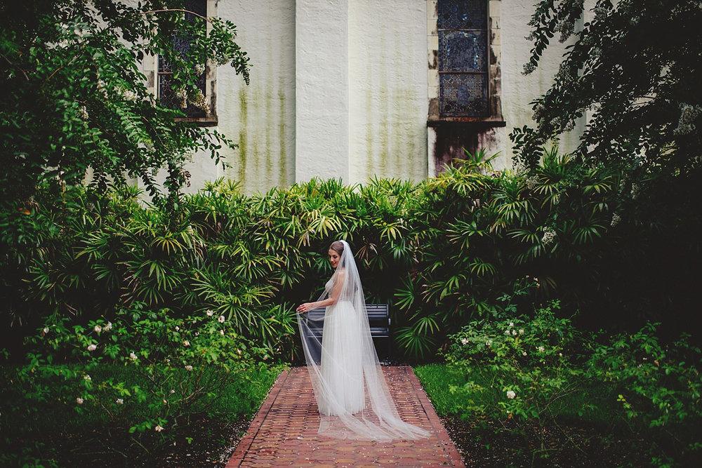 knowles memorial chapel wedding: bridal portrait