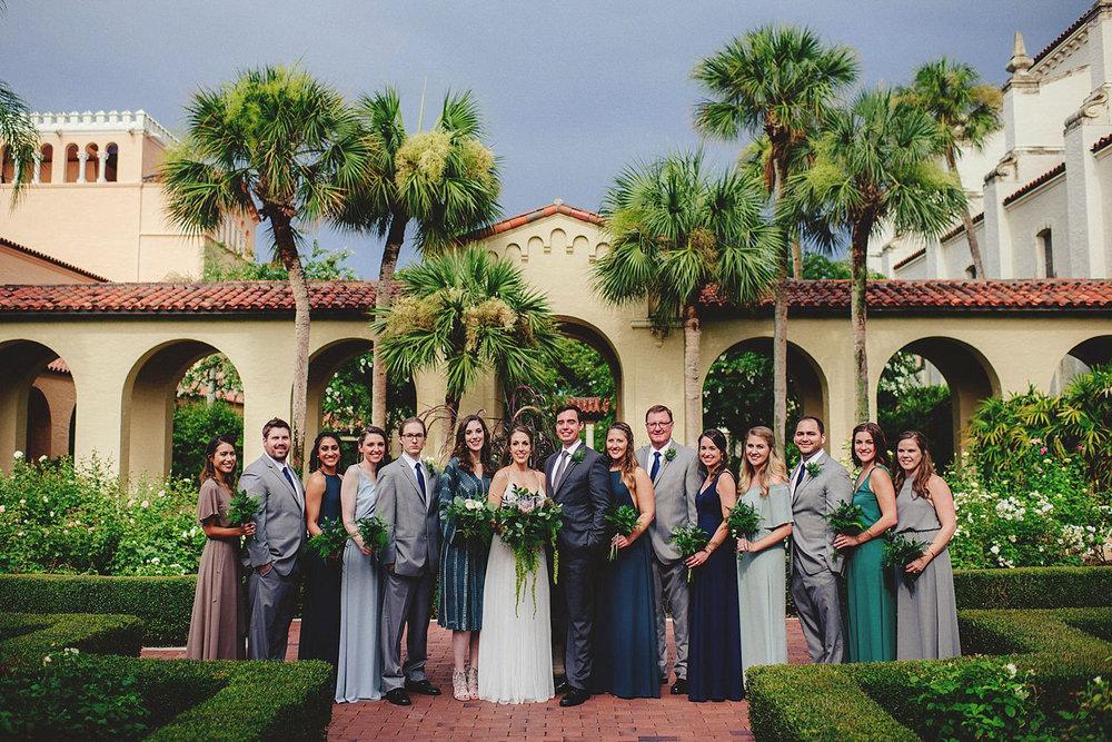 knowles memorial chapel wedding: bridal party