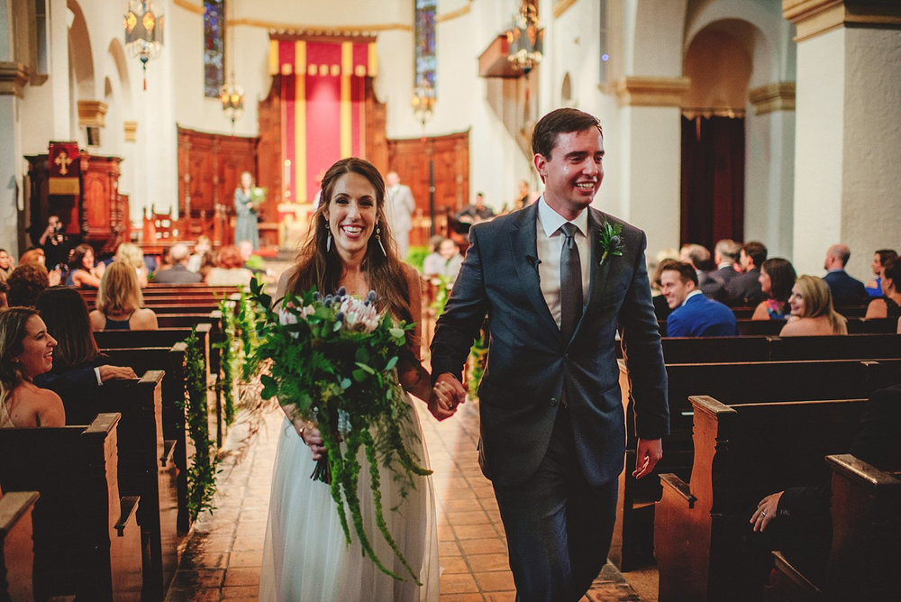 knowles memorial chapel wedding: processional