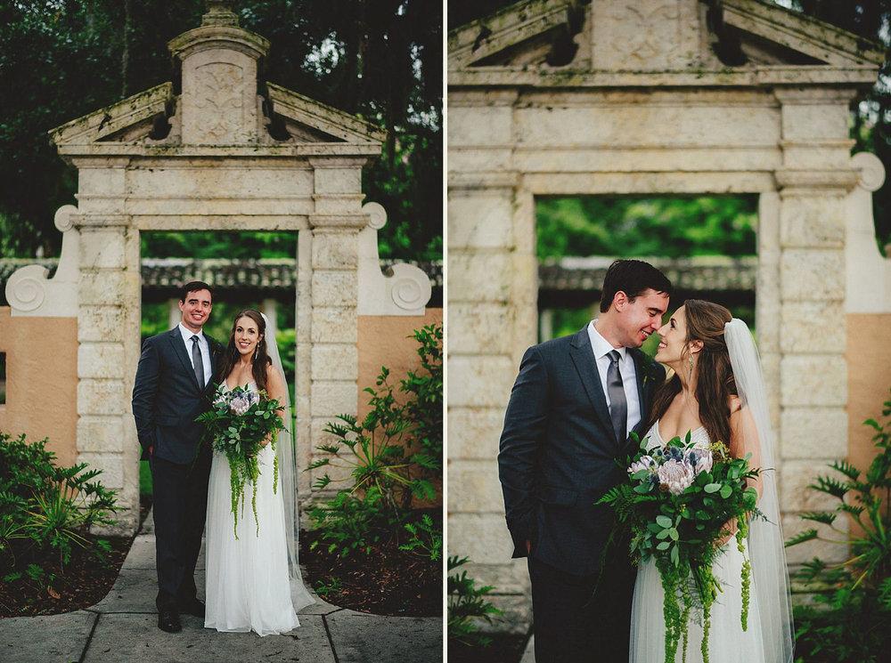 knowles memorial chapel wedding: bride adn groom portraits
