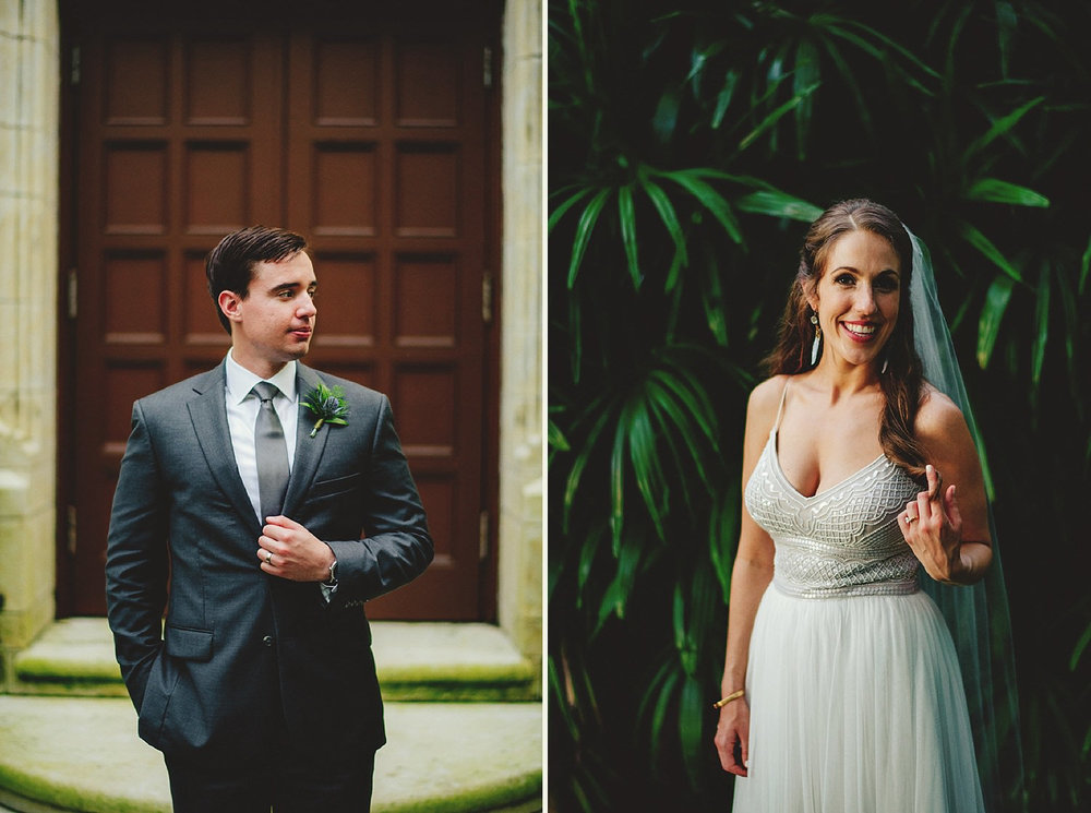 knowles memorial chapel wedding: bride in bhldn dress