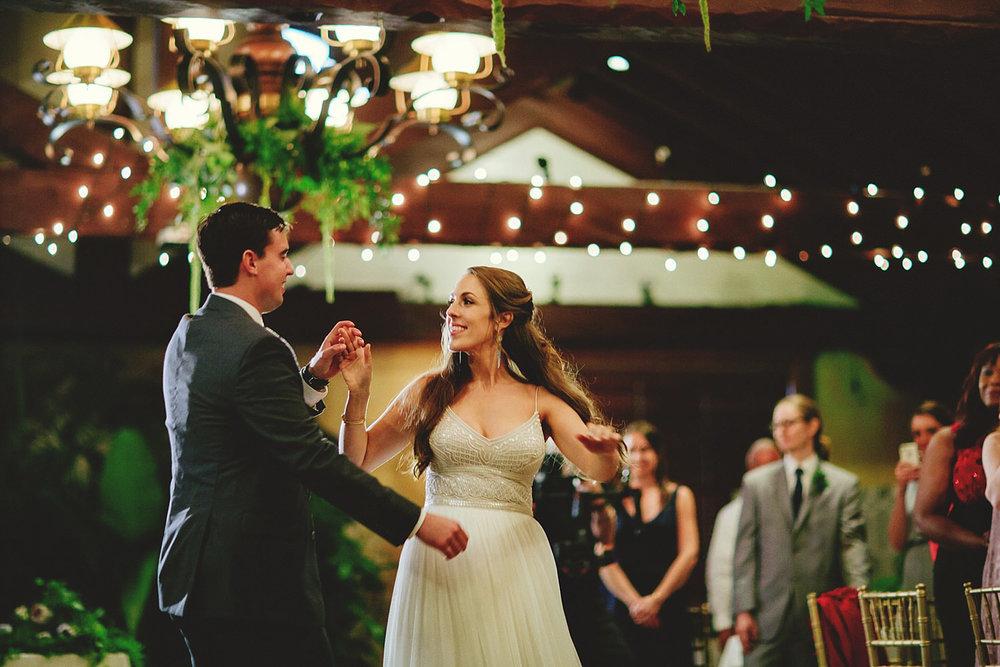 dubsbread wedding reception:  first dance