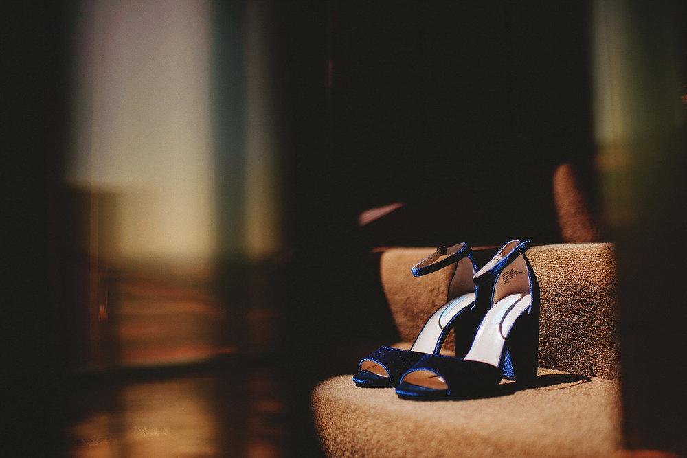 golden nugget wedding - blue suede shoes heels