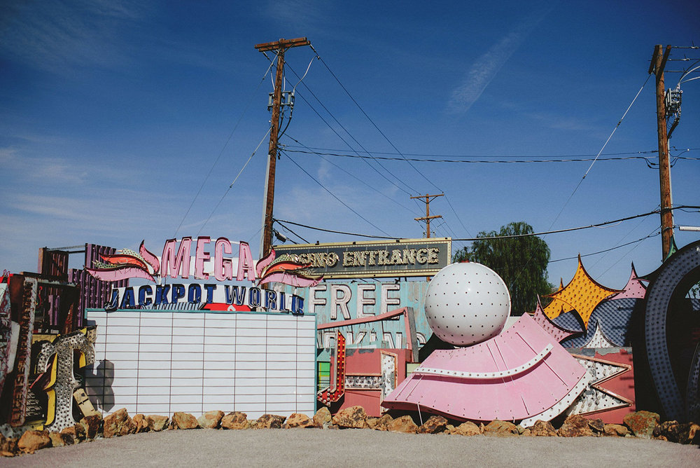 some signs at the neon museum
