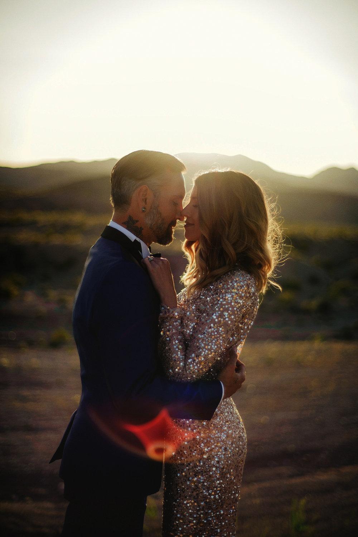 las vegas desert wedding photography