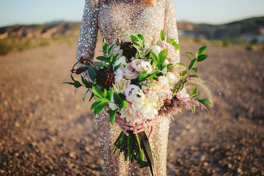 best las vegas bride boquet with cactus