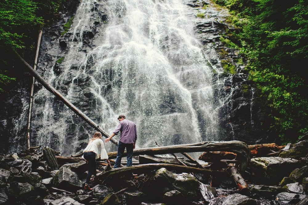 crabtree falls engagement photos