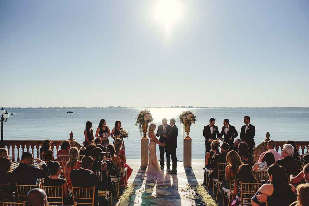 editorial ringling wedding: ceremony on the water