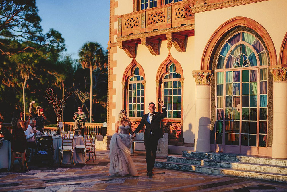 editorial ringling wedding: reception entrance