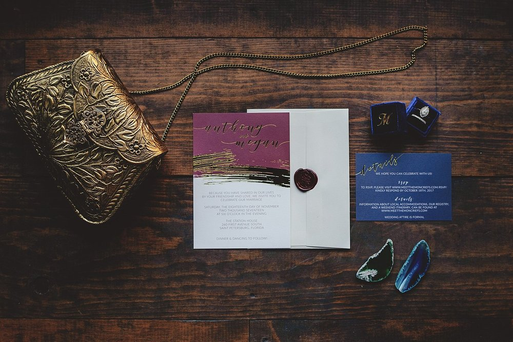station house wedding invitation
