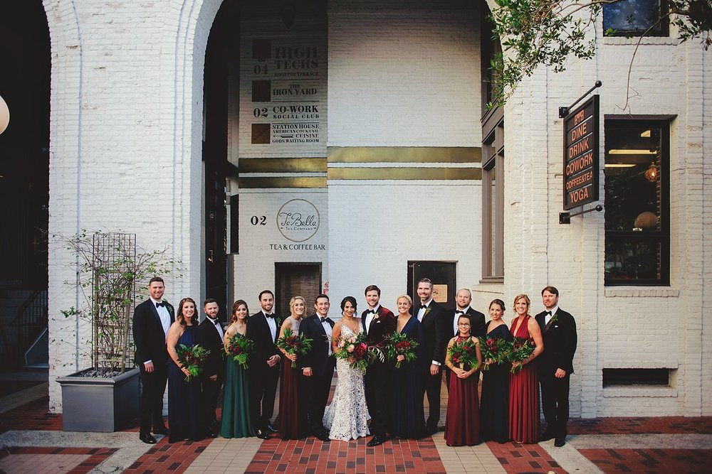 station house wedding bridal party photos