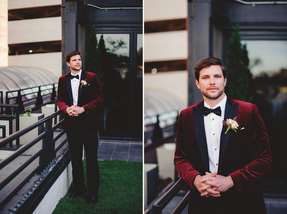 station house wedding groom pics