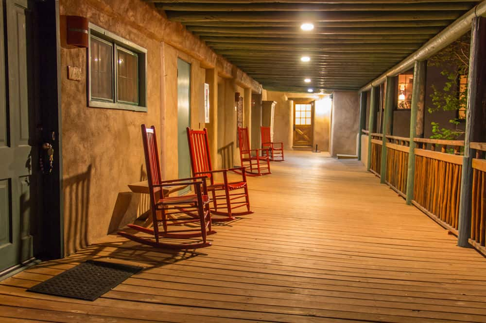 The porch at Blue Sky Retreat Center