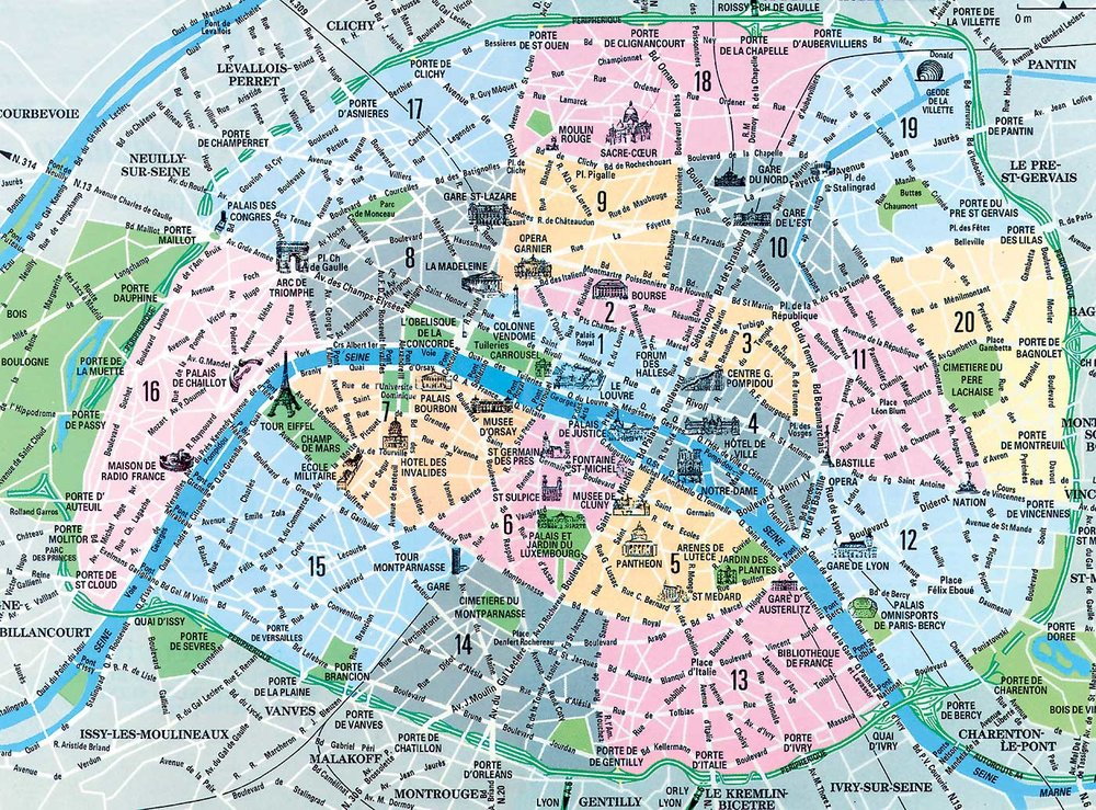 Map Of Paris French Gourmet Escapades - Map of paris bastille