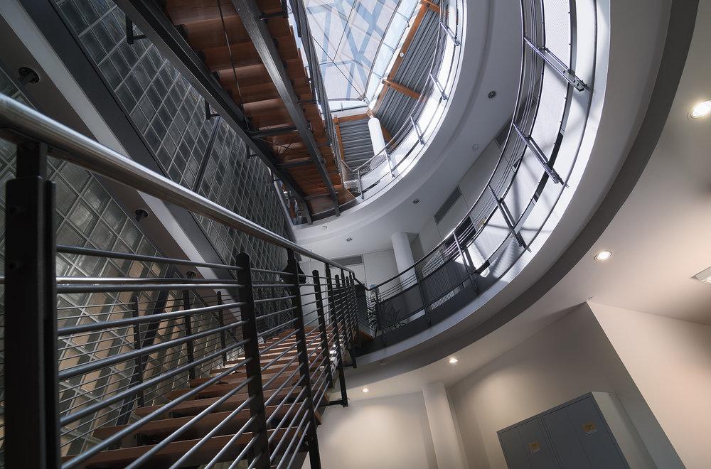 Treppenhaus Innenraumfotografie Immobilienfotograf
