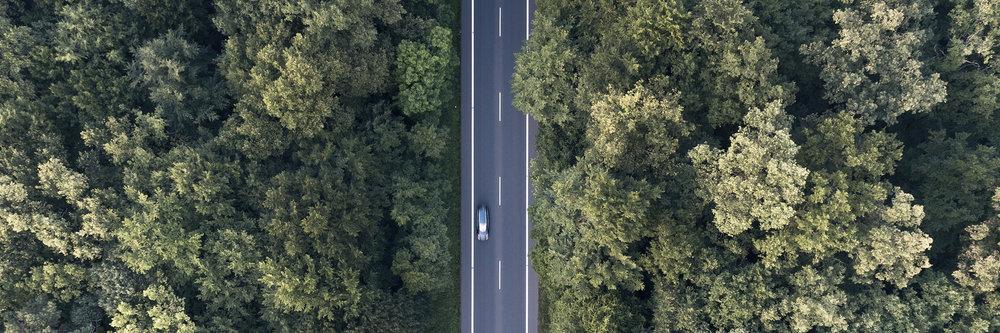 Straße von oben Luftbild