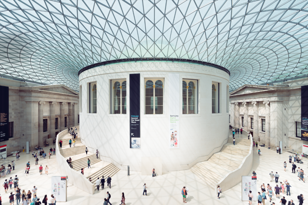 Moderne Innenarchitektur British Museum of London