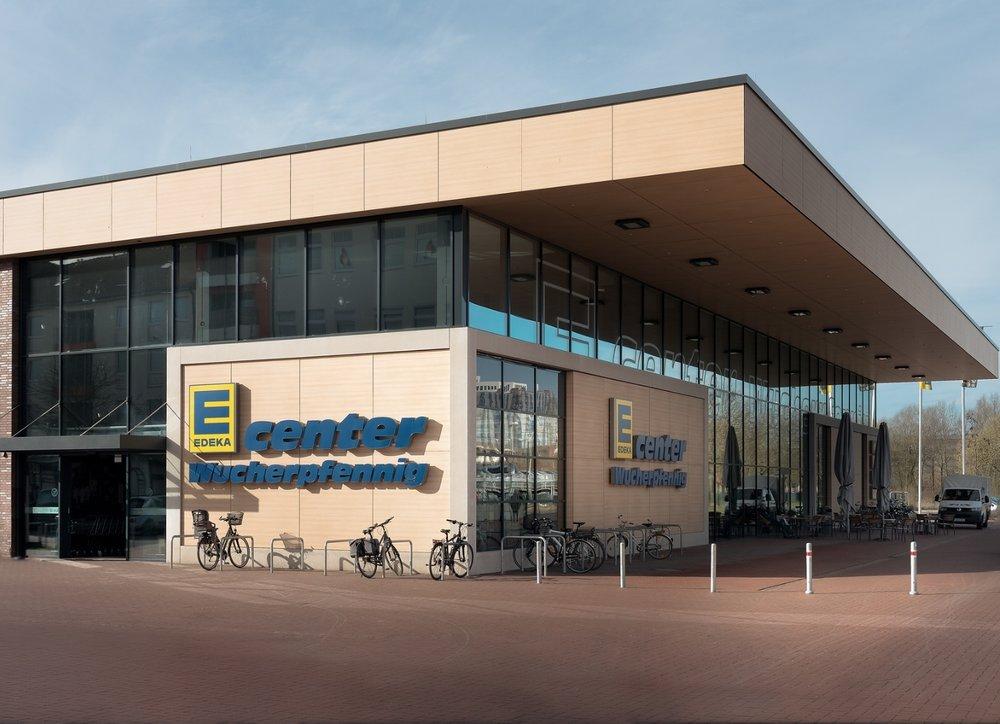 Edeka Einkaufszentrum Ansicht Außen Immobilienaufnahme
