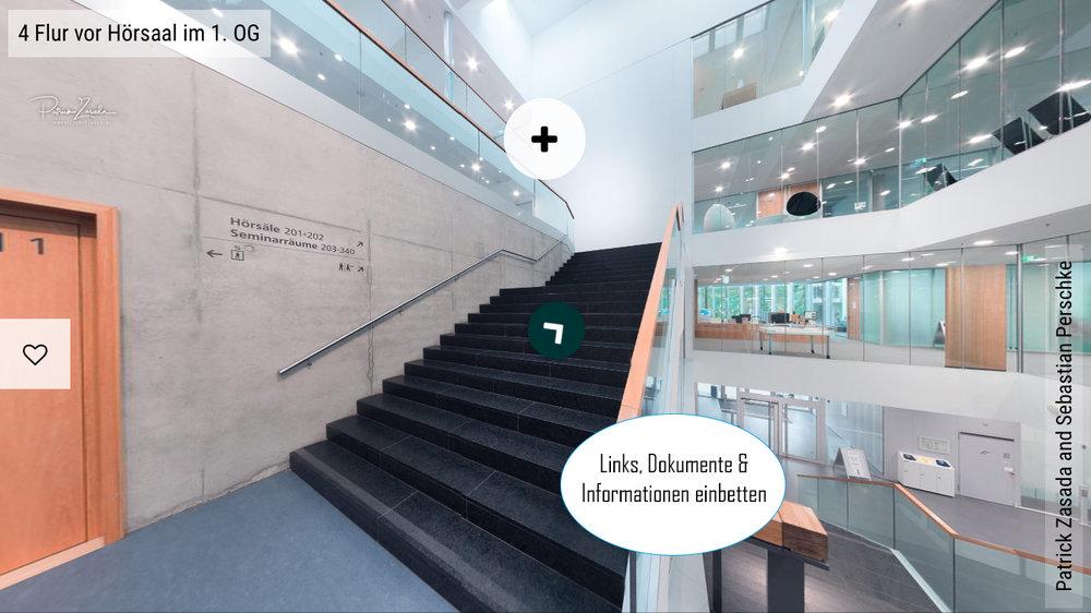 Darstellung einer VR Tour auf dem Handy im Responsive Design